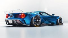 Ford GT rendering: il posteriore