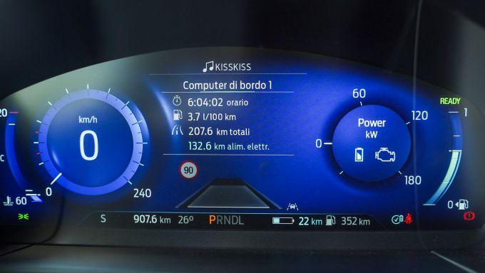 Ford Kuga 2020 Plug-In Hybrid ST-Line X: il quadro strumenti