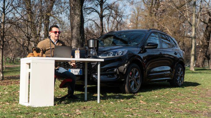 Ford Kuga smartworking: con Sync3 e Ford Pass Connect la redazione è mobile