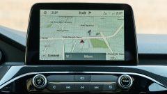 Ford Kuga smartworking: il display del sistema infotainment, qui con le mappe del navigatore