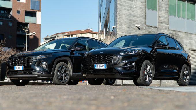 Ford Kuga vs Hyundai Tucson: le due sfidanti prima della prova su strada