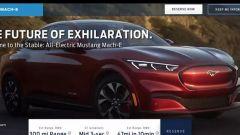 Ford Mustang Mach-E, prime immagini sul sito Ford