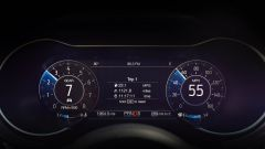 Ford Mustang restyling: il quadro strumenti digitale permette di visualizzare numerose informazioni