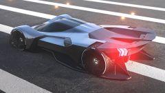 Ford Mustang Vision 001: i LED che richiamano quelli della Mustang odierna e il grande estrattore d'aria posteriore