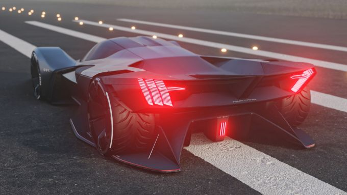Ford Mustang Vision 001: l'imponente posteriore