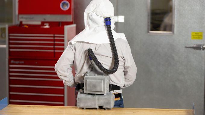 Ford PAPR, il respiratore funziona a batteria ricaricabile