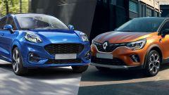 Ford Puma e Renault Captur 2020 a confronto
