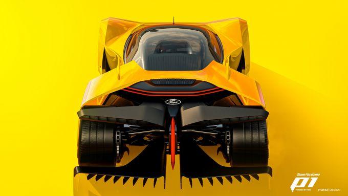 Fordzilla P1: visuale posteriore