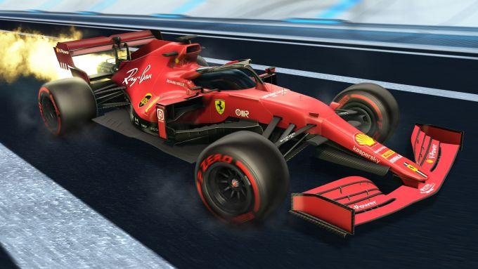Formula 1 in Rocket League: la livrea Ferrari
