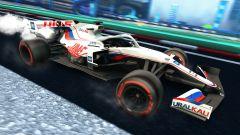 Formula 1 in Rocket League: la livrea Haas