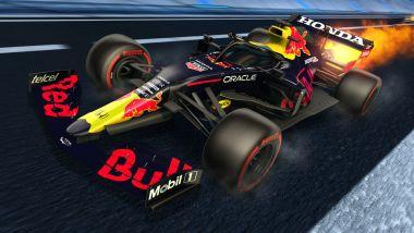 Formula 1 in Rocket League: la livrea Red Bull