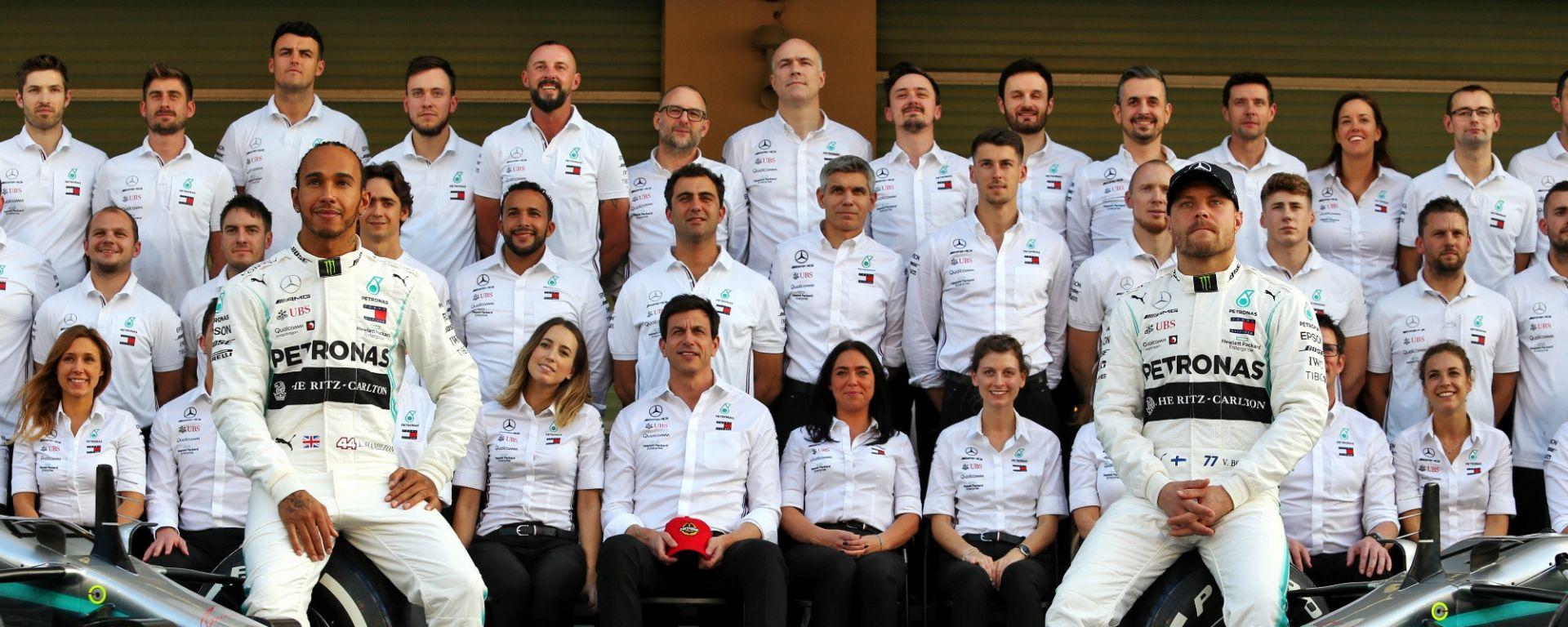 Formula 1 Team Mercedes 2019, Lewis Hamilton, Valtteri Bottas, Toto Wolff