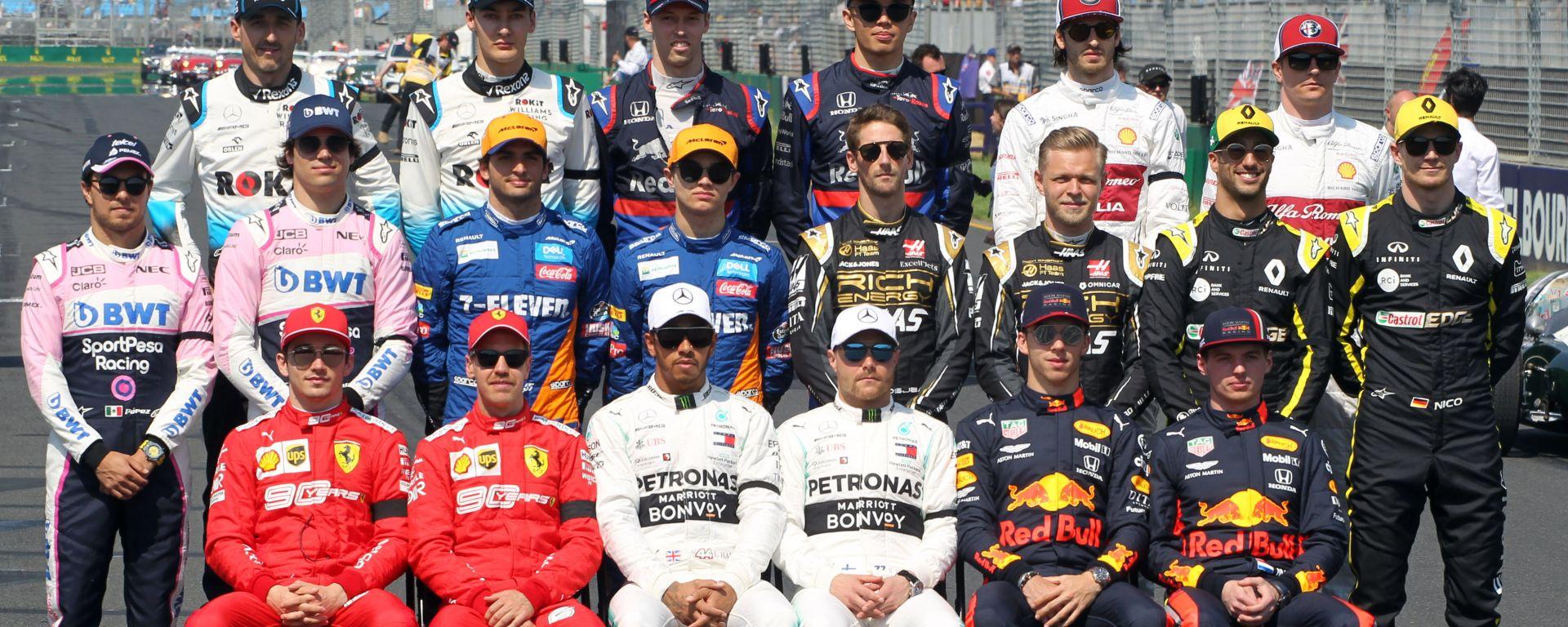 Formula 1, tutti i piloti iscritti al mondiale 2019