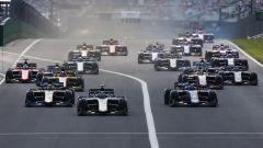 Formula 2 2019, Budapest: la partenza della Feature Race