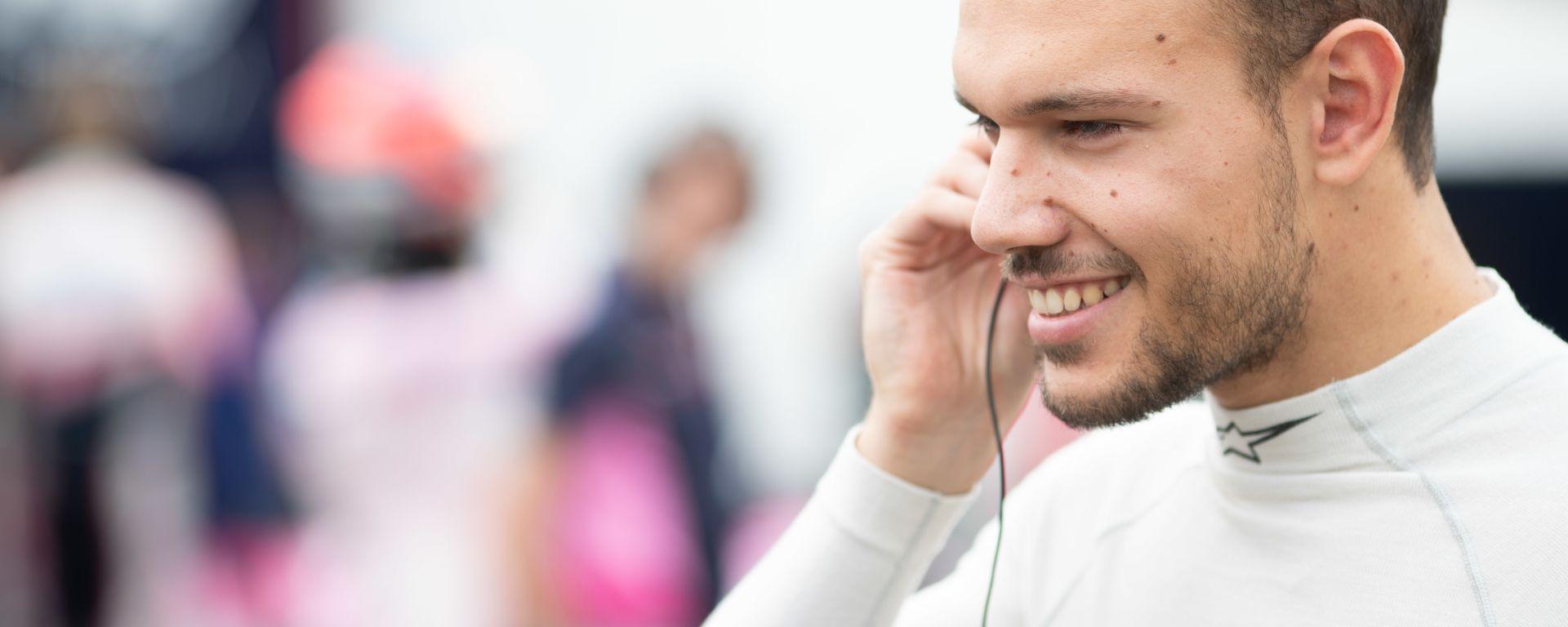 Formula 2, Budapest 2019: Luca Ghiotto sorride prima del via della Feature Race