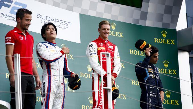 Formula 2, Budapest 2019: Mick Schumacher (Prema) sul gradino più alto del podio