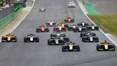Formula 2 Silverstone 2019, la partenza della Feature Race