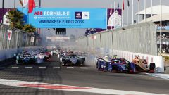 Formula E 2018-2019, ePrix Marrakech: la partenza della gara