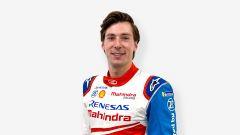Formula E 2019-2020: Alex Lynn sorridente nella sua nuova tuta Mahindra