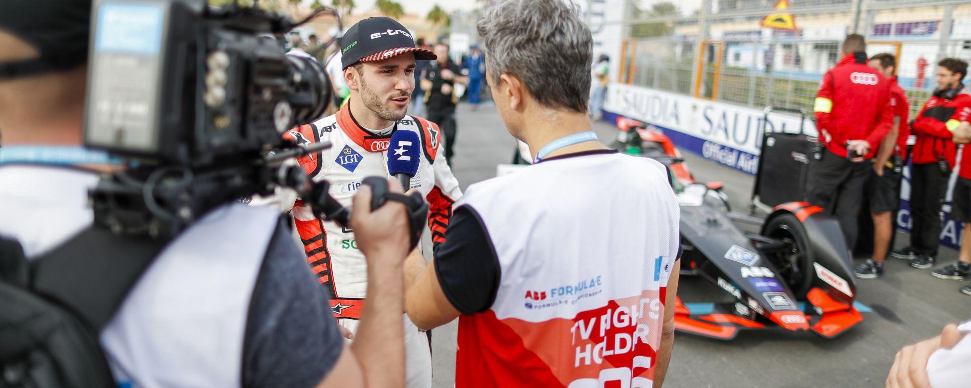 Formula E 2019-2020: Daniel Abt (Audi Sport) intervistato in pit-lane