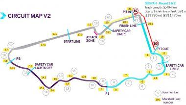 Formula E 2019-2020, ePrix Arabia Saudita: il circuito di Ad Diriyah