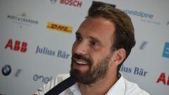 Formula E 2019-2020, test Valencia Day-1: Jean-Eric Vergne (Ds Techeetah) in conferenza stampa