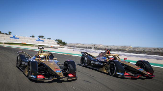 Formula E 2019-2020, test Valencia: Jean-Eric Vergne e Antonio Felix Da Costa (DS Techeetah)