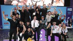 Formula E 2020, ePrix Città del Messico: i festeggiamenti di Mitch Evans e del team Jaguar