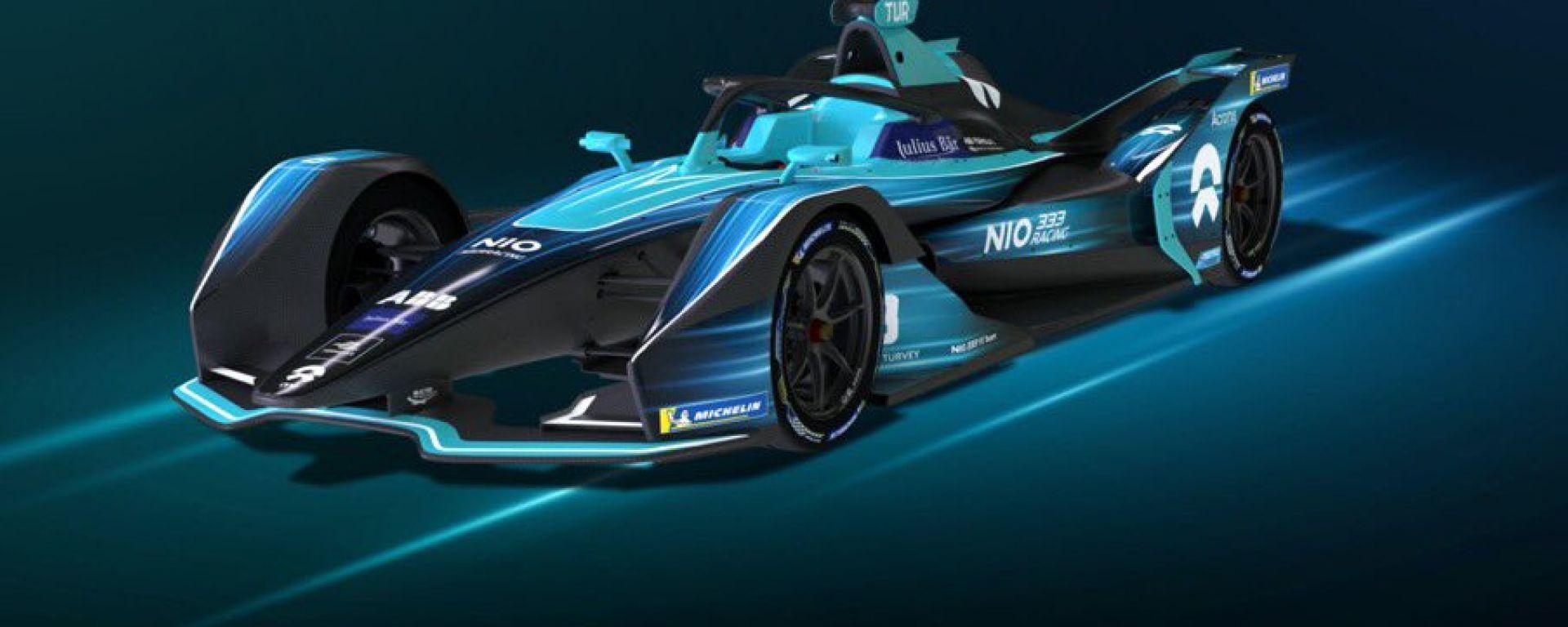 Formula E 2021, la NIO 333 di Blomqvist e Turvey