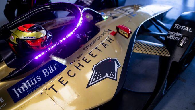 Formula E 2021, Test Valencia: Jean-Eric Vergne ai box DS Techeetah