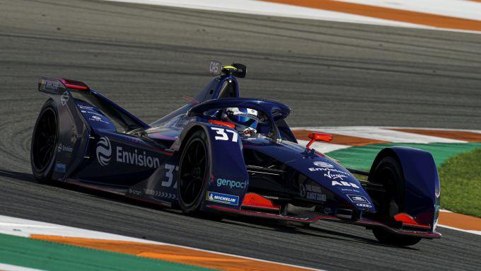 Formula E 2021, Test Valencia: la nuova Envision Virgin Racing di Nick Cassidy