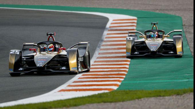 Formula E 2021, Test Valencia: Le DS Techeetah di Jean-Eric Vergne e Antonio Felix Da Costa