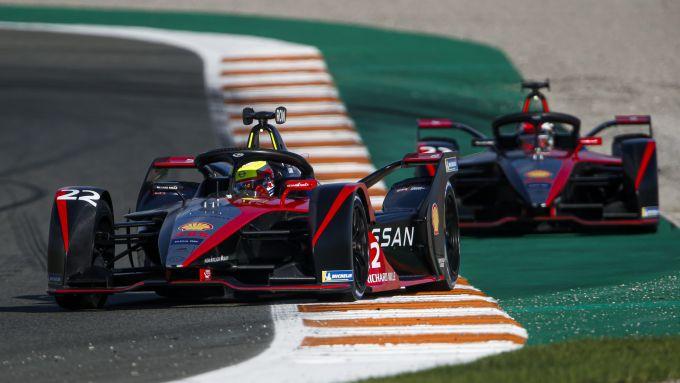 Formula E 2021, test Valencia: le Nissan e.Dams di Oliver Rowland e Sebastien Buemi