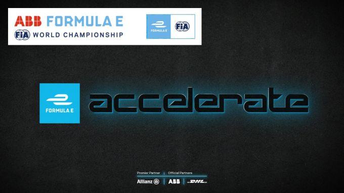Formula E Accelerate, il logo della competizione online