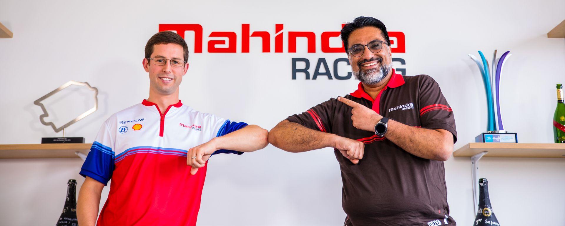 Formula E: Alexander Sims e il team principal Mahindra, Dilbagh Gill