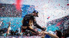 Formula E: Antonio Felix da Costa (DS Techeetah) festeggia il secondo posto nell'ePrix Santiago