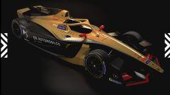 Formula E, DS Techeetah Gen2 Evo concept vista 3/4 anteriore bassa