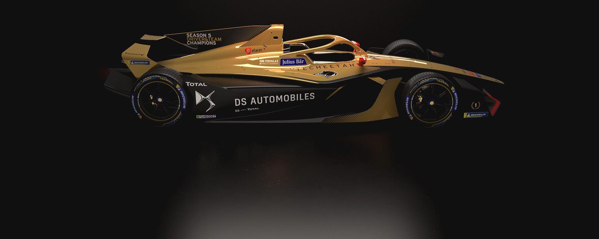 Formula E, DS Techeetah Gen2 Evo concept vista laterale