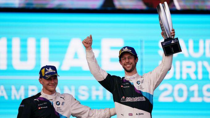 Formula E, ePrix Ad Diriyah 2019: Maximilian Gunther e Alexander Sims (Bmw) sul podio