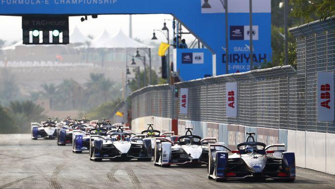 Formula E ePrix Ad Diriyah 2020: le prime fasi della gara della passata stagione