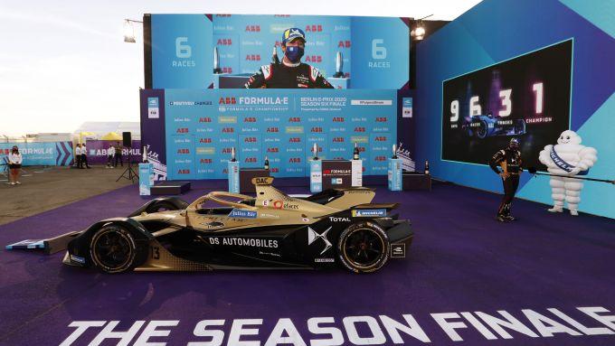 Formula E ePrix Berlino 2020: Antonio Felix Da Costa (Ds Techeetah) sul podio