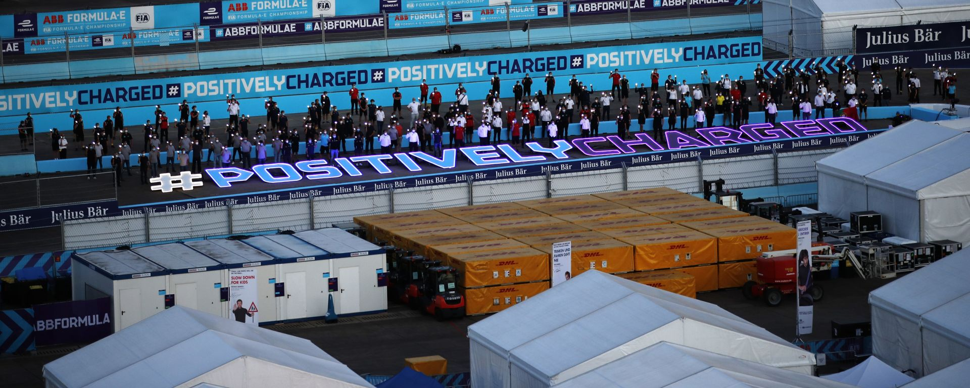 Formula E ePrix Berlino 2020: i piloti attorno all'hashtag #PositivelyCharged