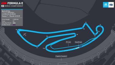 Formula E ePrix Berlino 2021: la mappa del circuito di Tempelhof