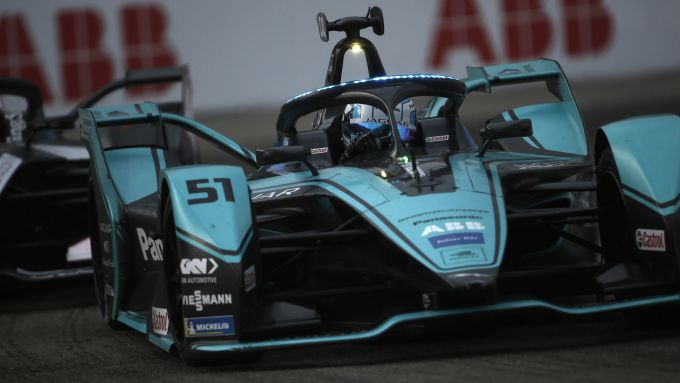 Formula E ePrix Berlino-4 2020: James Calado (Jaguar Racing) in pista