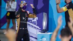 Formula E ePrix Berlino-4 2020: Jean-Eric Vergne (DS Techeetah) festeggia la vittoria