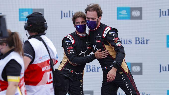 Formula E ePrix Berlino-4 2020: Jean-Eric Vergne e Antonio Felix Da Costa (DS Techeetah)