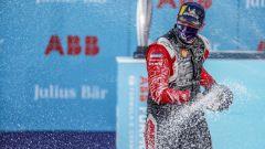 Formula E ePrix Berlino-5 2020: Oliver Rowland (Nissan e.Dams) festeggia la vittoria