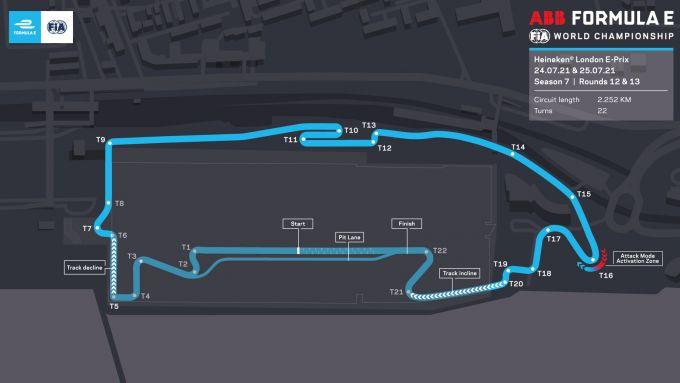 Formula E ePrix Londra 2021, ExCeL: la mappa del circuito di Londra