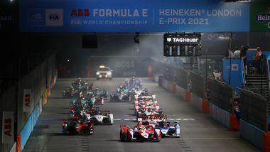 Formula E ePrix Londra 2021, ExCeL: la partenza della gara