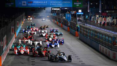Formula E ePrix Londra 2021, ExCeL: la partenza di gara-2